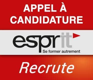 Appel à candidature : Esprit recrute